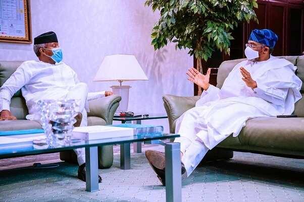 Gbajabiamila, Osinbajo discus about providing electricity palliative to Nigerians