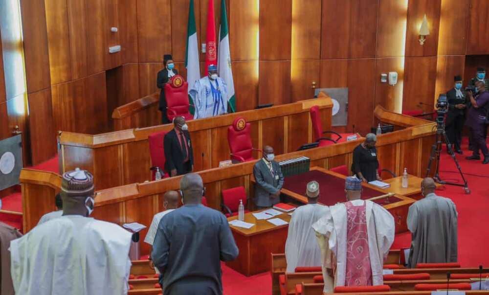 Senate president Ahmad Lawan swears-in four new senators