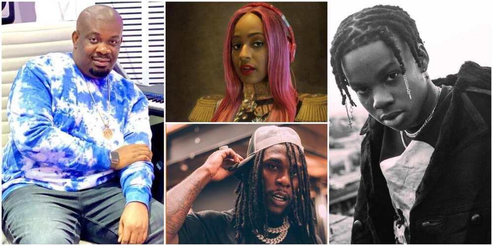 Don Jazzy, DJ Cuppy, Burna Boy, Rema