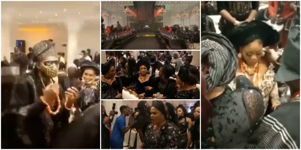 Toyin Lawani pulled off an all black wedding in Lagos