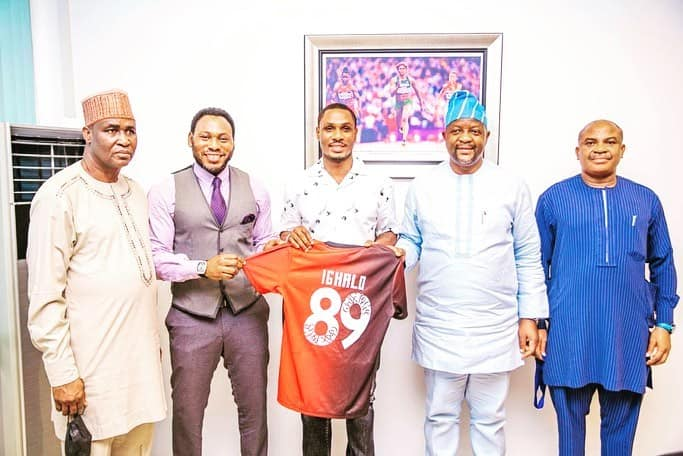 Odion Ighalo gets an appointment from Minister of Youth and Sports Development
