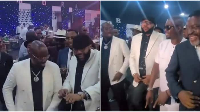 Billionaires' club: Reactions as Obi Cubana, E-Money, KOK, others display amazing dancing skills in cute video
