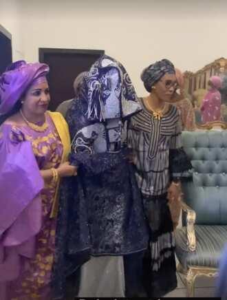 Hotuna da bidiyon wankan 'Budan Kai' Zahra Nasir Bayero, amaryar Yusuf Buhari