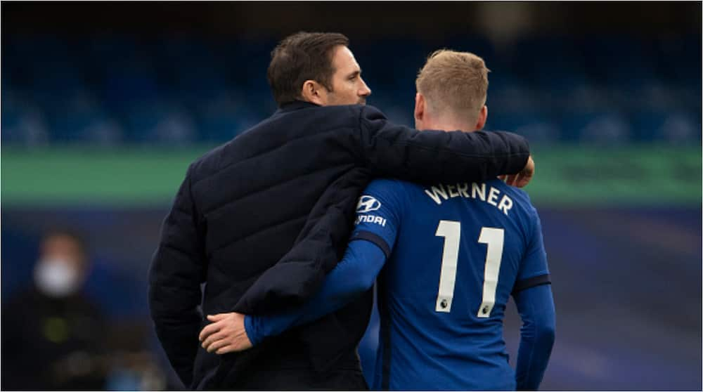 Frank Lampard: Chelsea manager insists he is 'not worried' about Timo Werner's goal drought