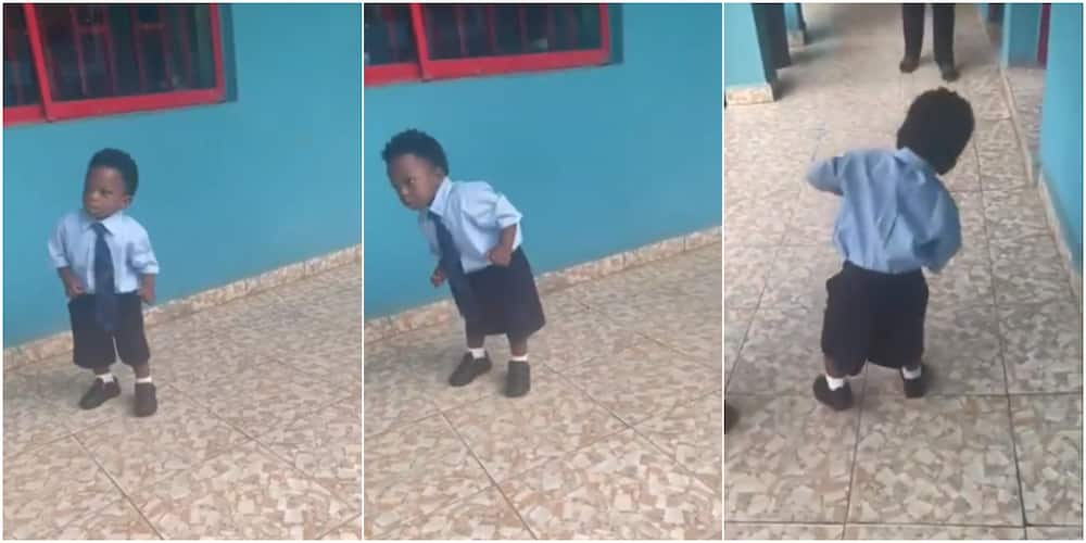 Nigerian man shocked as his son didn't cry on 1st day in school, here's what little boy did that got many talking