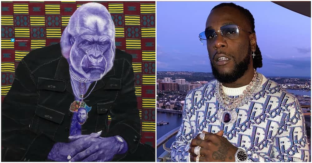 Singer Burna Boy acknowledges artwork dedicated to him by a staunch fan