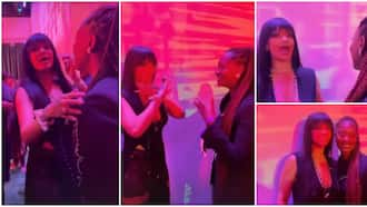 Rihanna screams in excitement, blushes hard as she meets Nigerian singer Tems for the first time