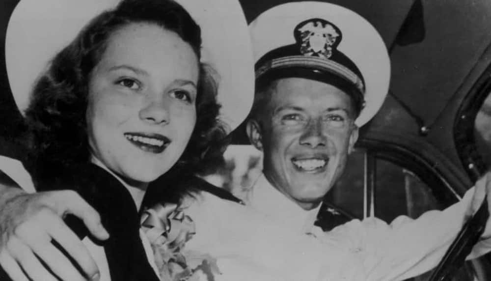 An old photo of Jimmy and Rosalynn.