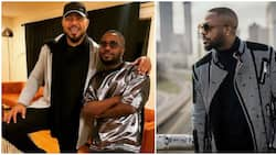 Ramsey Nouah shares photo with Tunde Ednut, calls him a 'gentleman'