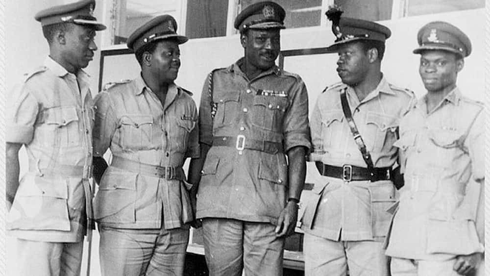 Who led the first military coup in Nigeria?