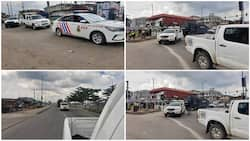 Photos emerge as Lagos Police embark on Show of Force ahead of planned #ENDSARS Memorial protest