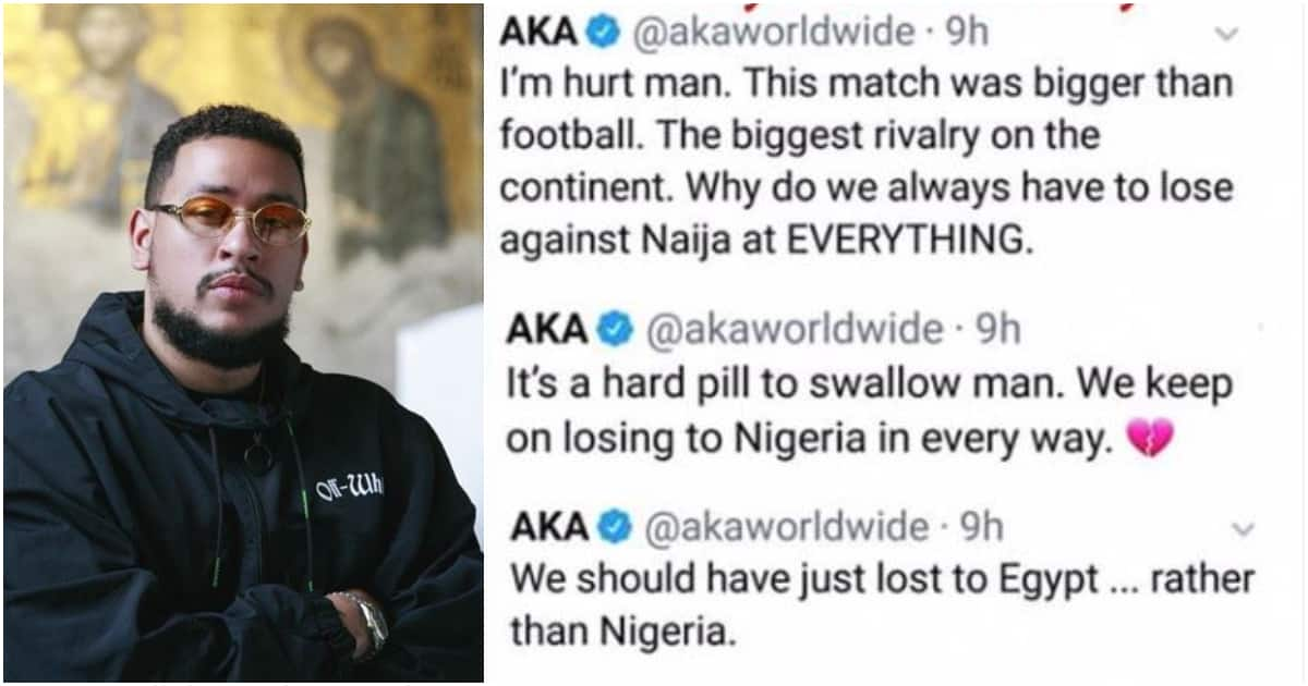 South African rapper AKA rants after country's loss to Nigeria at AFCON 2019