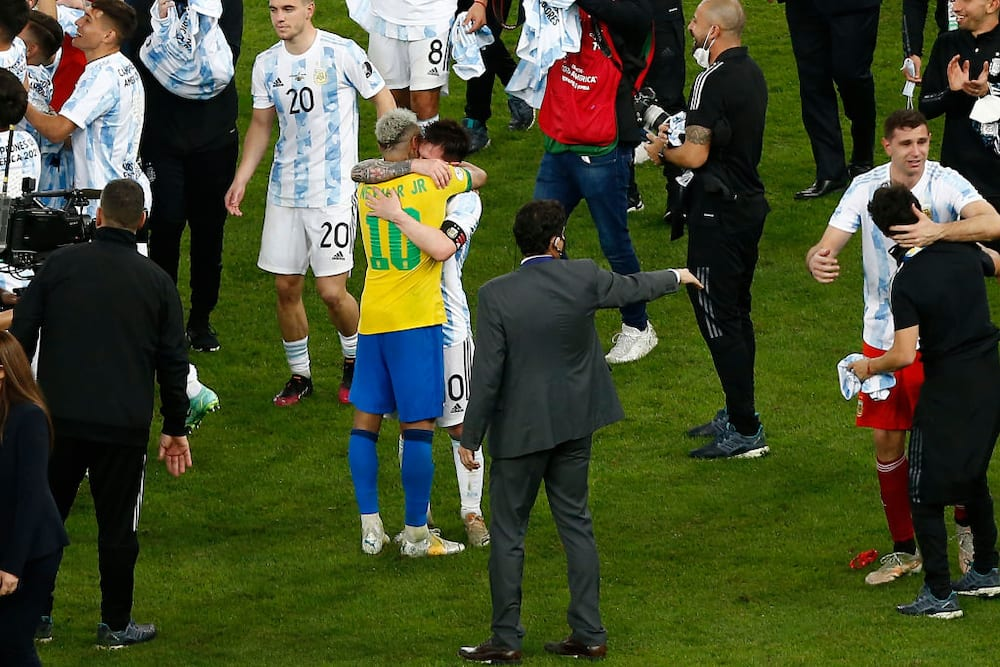 Neymar's emotional tribute to Messi: I hugged the greatest, enjoy your title