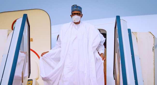 Buhari arrives in Abuja after visit to Katsina