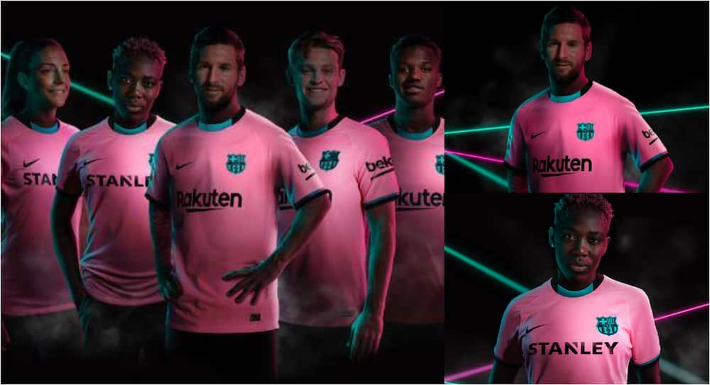 Messi, Oshoala pose with Barcelona's 3rd kit which costs a massive £160