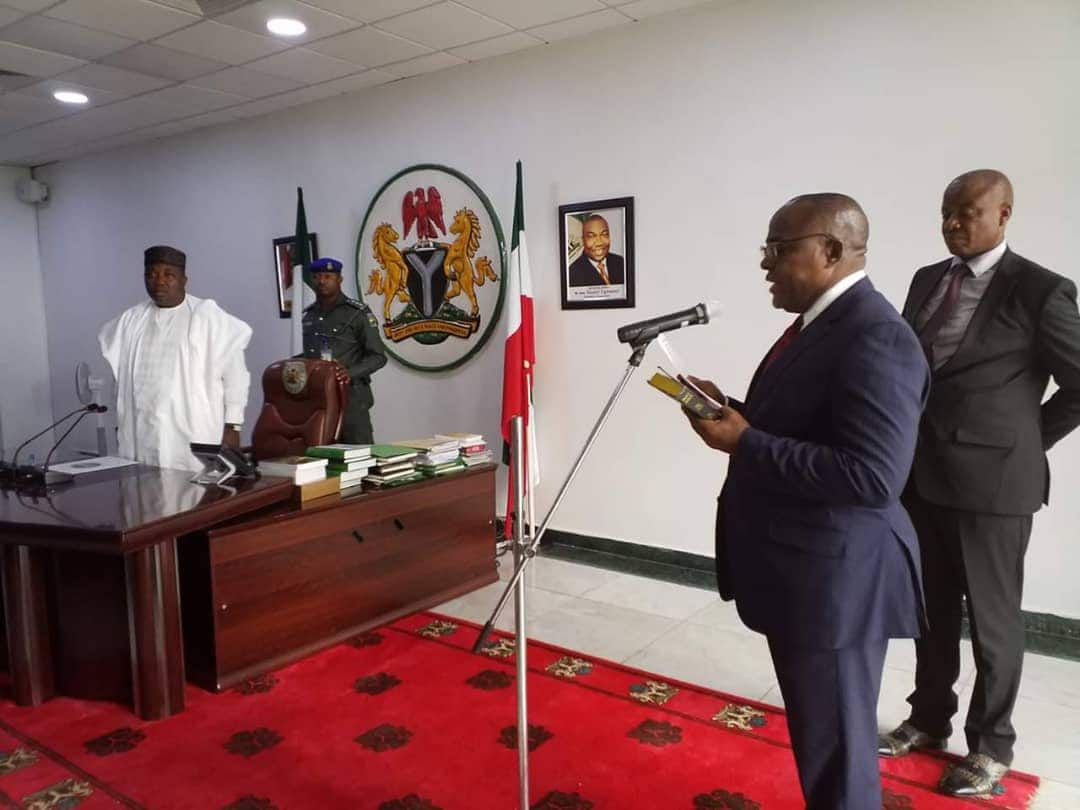 Enugu: Governor Ugwuanyi swears in Prof Ortuanya as SSG - Legit.ng