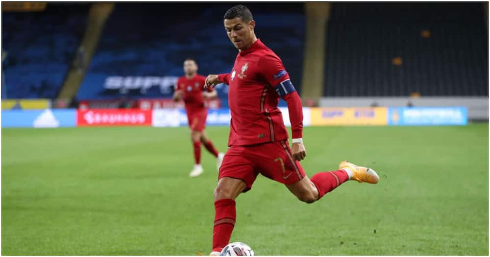 Ronaldo while in action for Portugal. Photo: Getty Images.