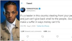 God will make you suffer in ways money cannot fix - Tekno tells corrupt leaders