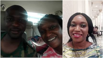 See photo of Nigerian soldier who helped a lady and her children at Apogbon, Lagos