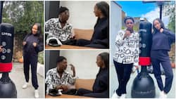 Singer Small Doctor and Temi Otedola recreate hilarious Odunlade TikTok video as they hang out in London