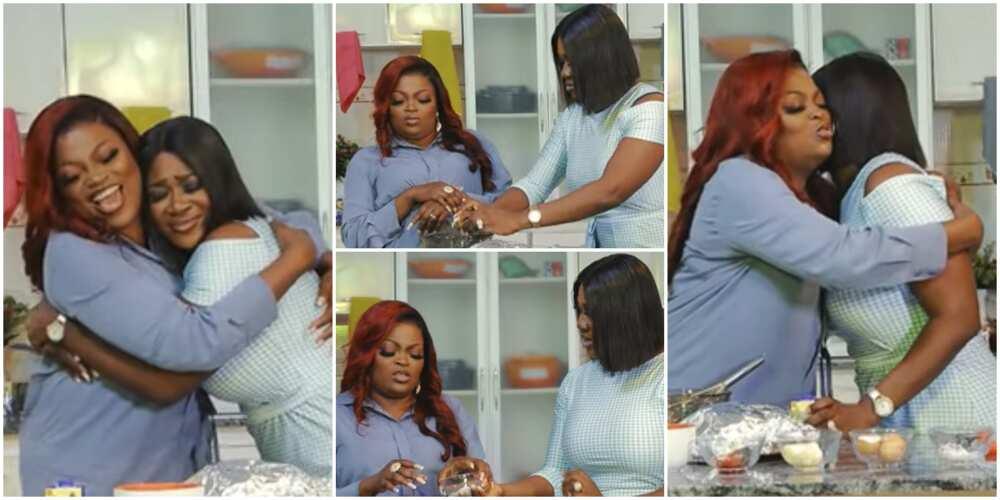 Funke Akindele and Mercy Johnson cook together in video