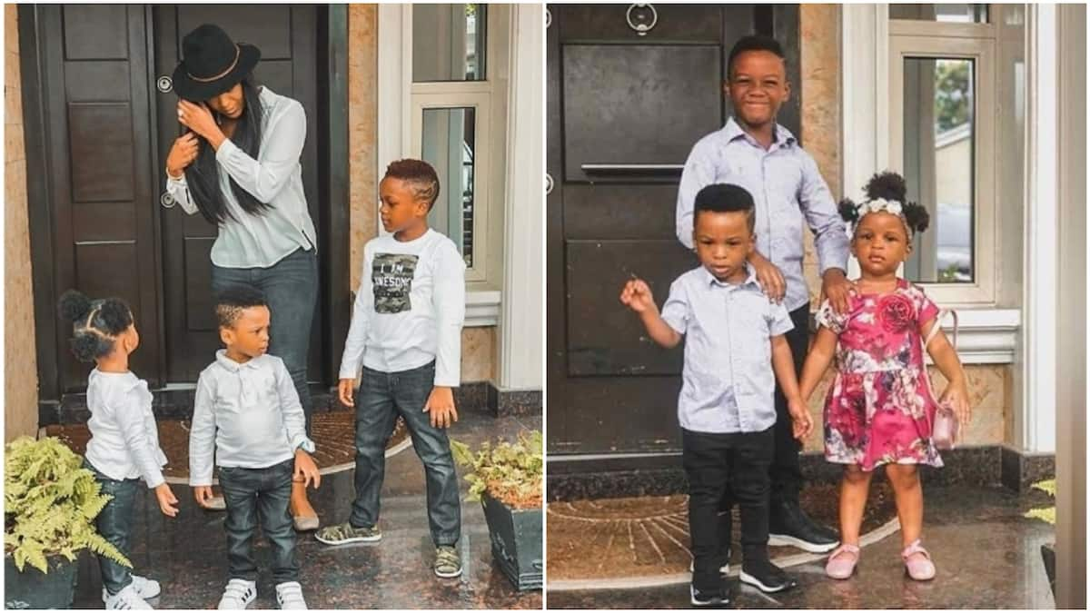 Paul Okoye's wife Anita brags about their kids as she reveals interesting things about them