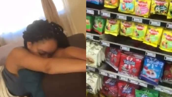 Husband shares video of his wife looking so sad because she wants sweets, many people react