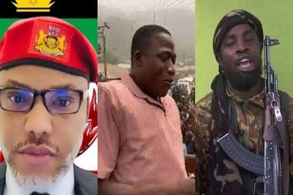 Mutuwar Shekau Ya Isa Darasi Ga Nnamdi Kanu da Sunday Igboho, Adama Garba