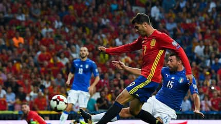 Chelsea star Morata produces miss of the season while on duty for Spain