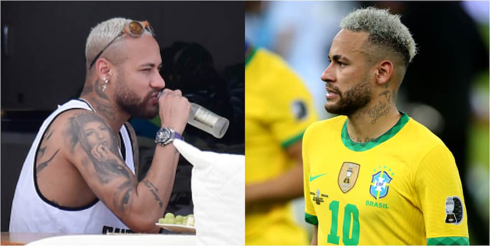 Fans criticize Neymar's physique after he was spotted looking bloated on holiday