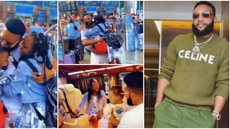 Singer Kcee's children cling onto him in excitement as he pays them surprise visit in Turkey