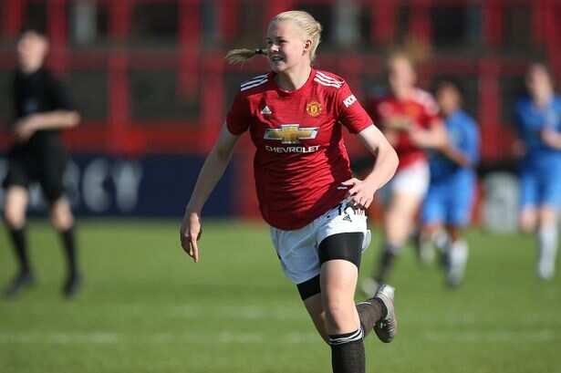 Ole's daughter Karna Solskjaer in action for Man United's women academy