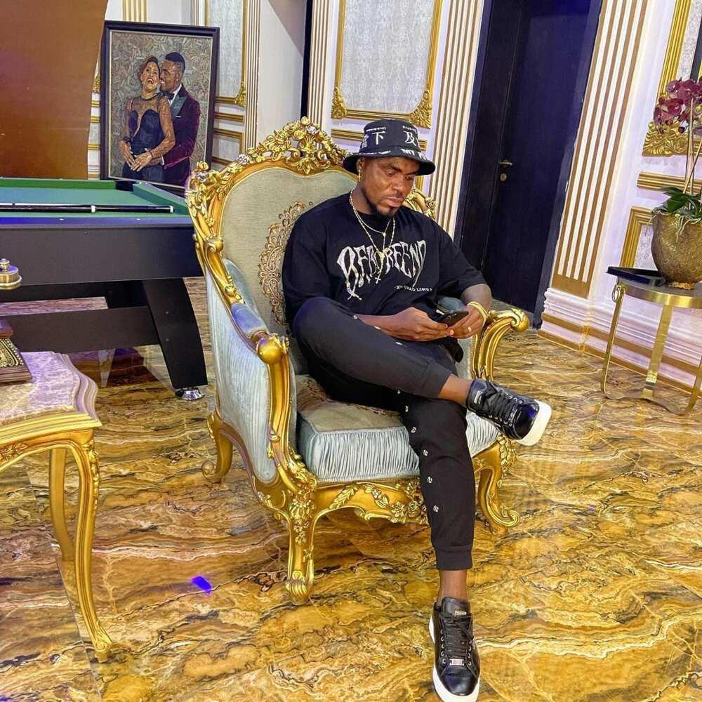 Billionaire socialite Cubana Chiefpriest shares exterior views of Emenike's multi-million naira mansion