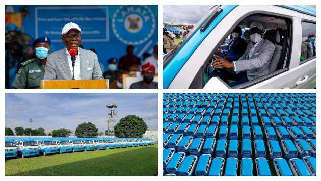 Good news for Lagosians as Sanwo-Olu launches 600 hi-tech buses, shares photos