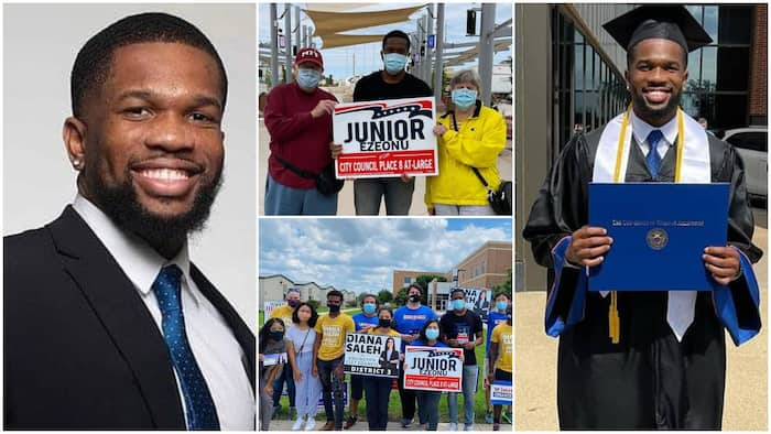 Joy As 22-Year-Old Young Nigerian Man Ezeonu Wins Election in America,  Beats Opponent With 3,903 Votes ▷ Nigeria news   Legit.ng