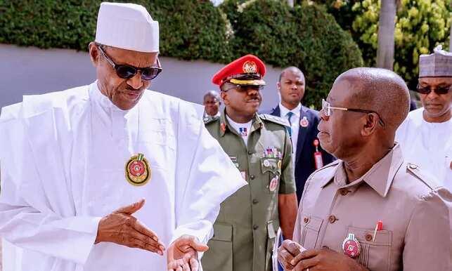 President Buhari Sends Special Birthday Message to Oshiomhole as Ex-APC Chairman Clocks 69
