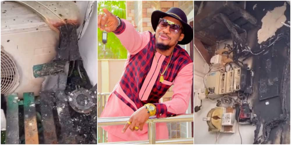 Nollywood Actor Gives Gratitude to God After Escaping Death as His House Almost Went up in Flames