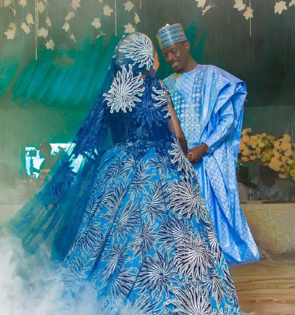 Kyawawan hotunan auren hadimin Buhari da kyakyawar matarsa