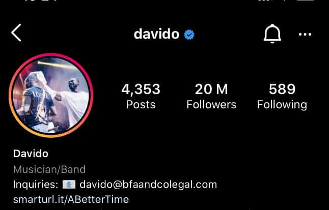 Davido Devient Le Premier Chanteur Africain À Battre Ce Record Sur Instagram