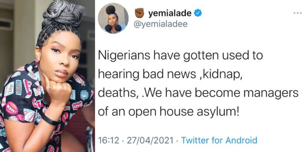 Suffering and Smiling: Nigerians Are Now Used to Hearing Bad News, Yemi Alade Reacts to State of the Nation