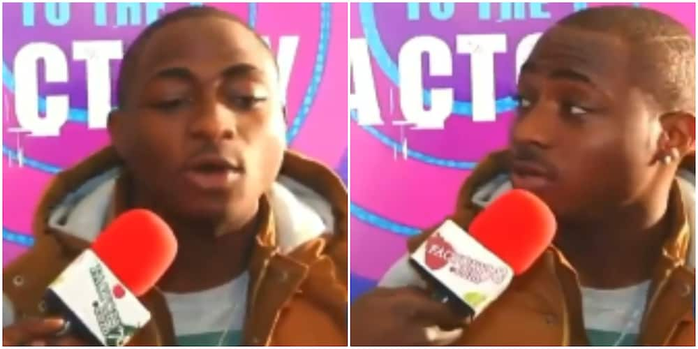 Davido shares 9-year-old throwback video where he talked about following a path different from Wizkid