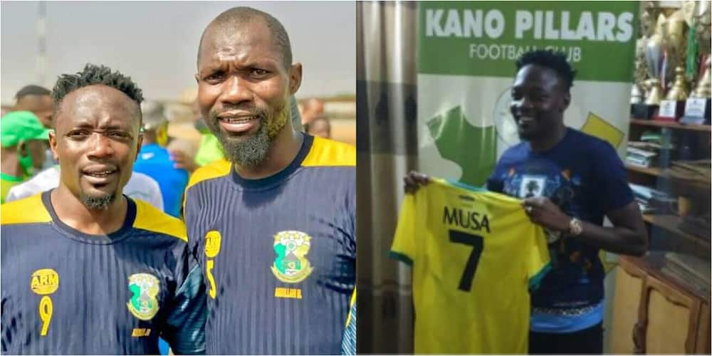 Kano Pillars new signing wears wrong shirt number in first training with team