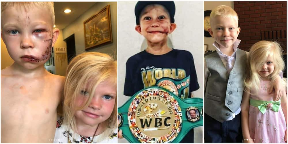 Bridger Walker: 6-year-old boy saved sister from dog attack becomes heavy champion