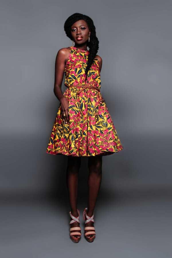 A line Ankara dress with yoke