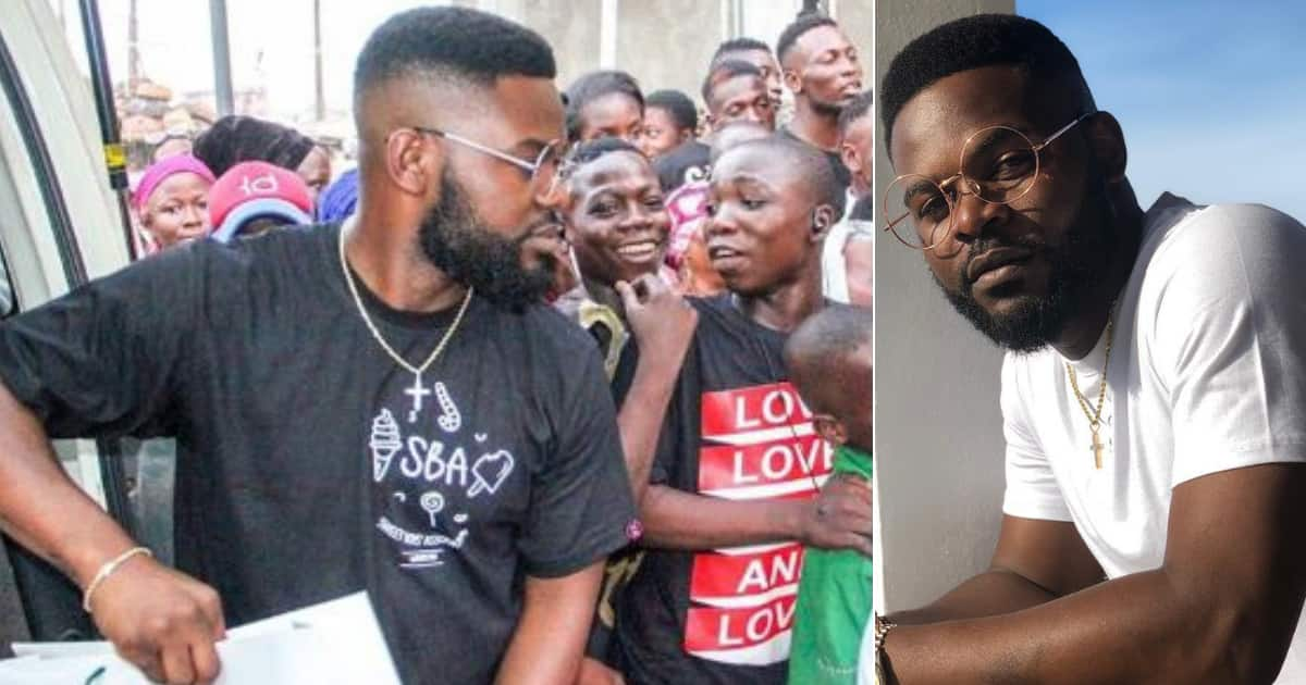 Many react to photos of Falz giving to the needy on Christmas day