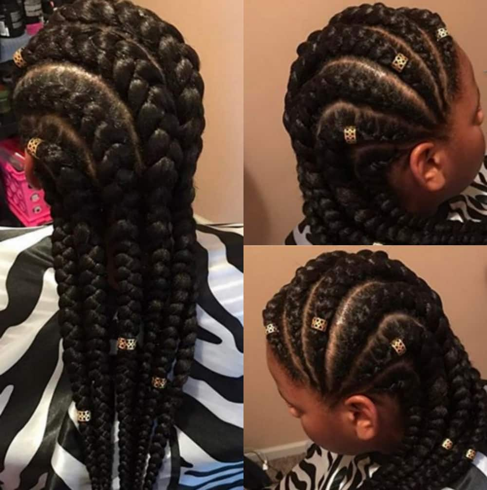 cornrows to the side