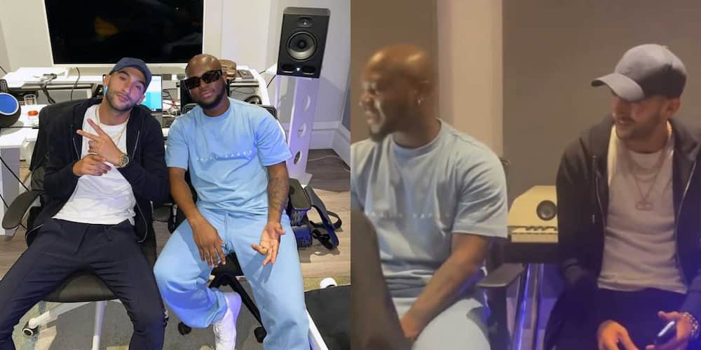 Chelsea star Hakim Ziyech hangs out with King Promise during studio session