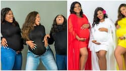 Adorable photos as 3 newly-weds who are neighbours conceive almost at the same time
