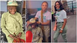 Lovely moment 'corper' celebrates her grandma, wears woman NYSC khaki, commands her to 'remove headdress'