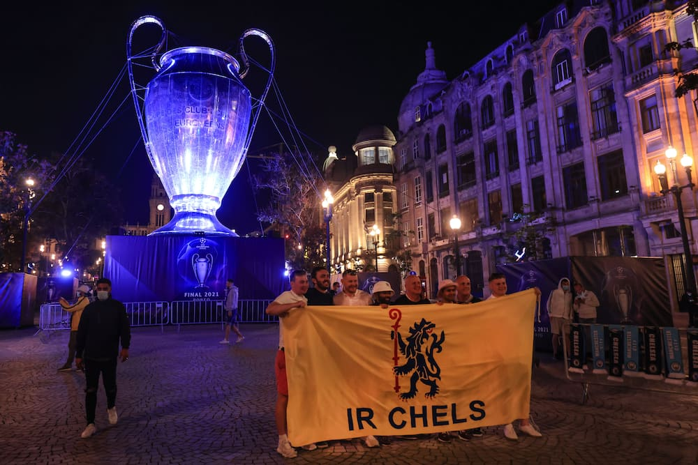 English football fans in Porto.
